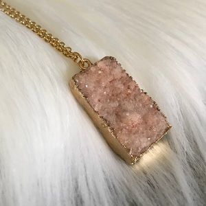 Natural Druzy Agate Necklace